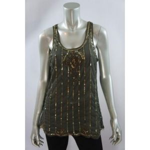 Andrew Charles Green Beetle Glam Tank XS NWT